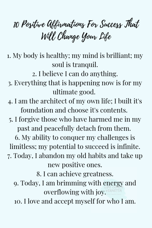 10 Positive Affirmations For Success That Will Change Your Life