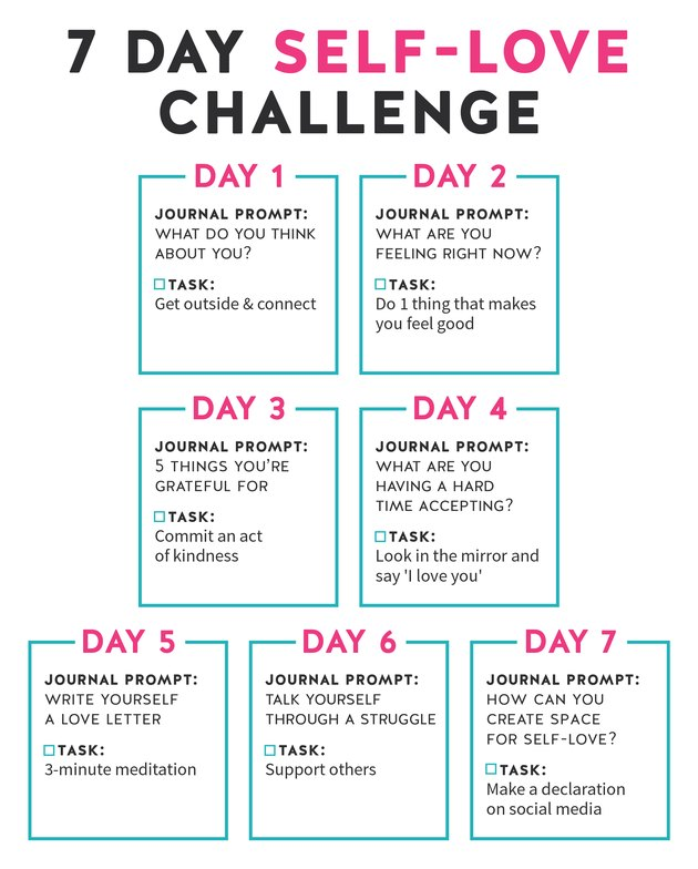 7 Day Self Love Task